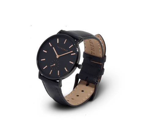 The Horse Classic watch in Black with Gold Indexing