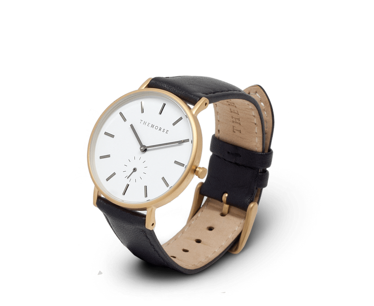 B5 The Horse Classic watch in Gold & Black