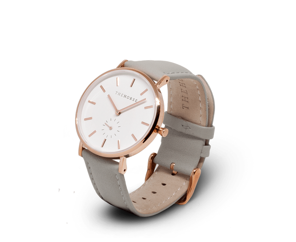 The Horse Watches The Horse Classic watch in Rose Gold and White with Grey