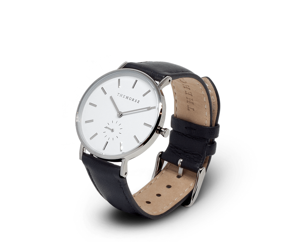 The Horse Watches The Horse Classic watch in White, Silver and Black