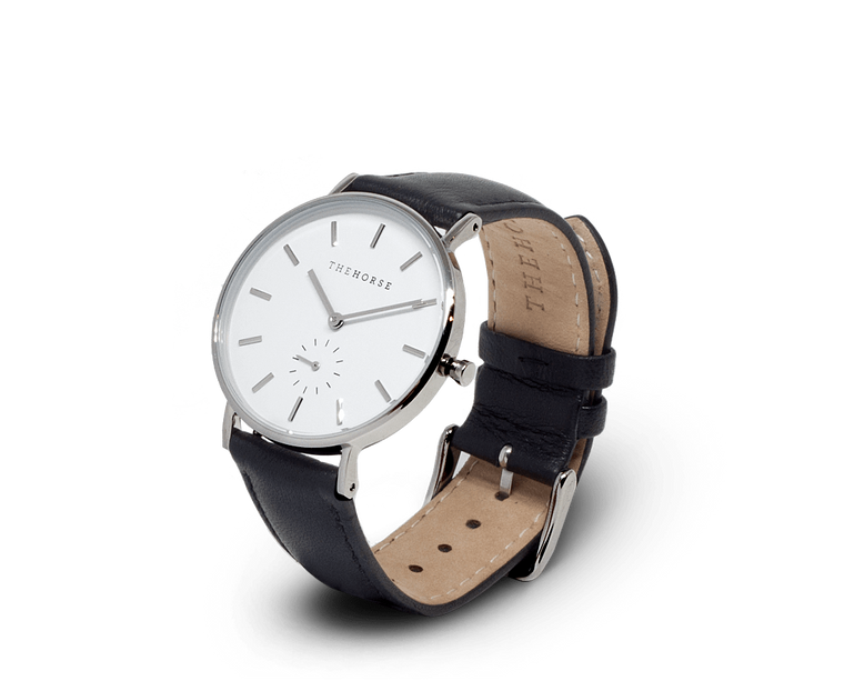 The Horse Classic watch in White, Silver and Black