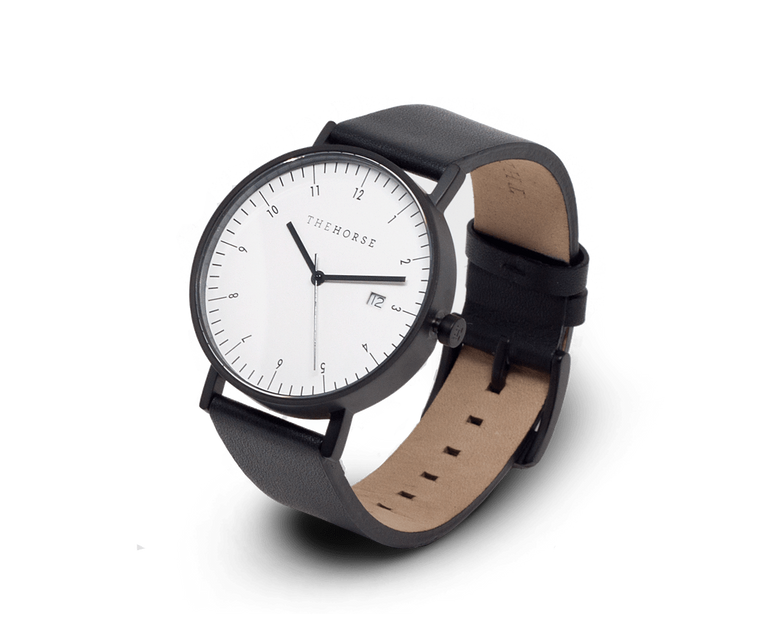 The Horse D-Series Date watch in Black and White