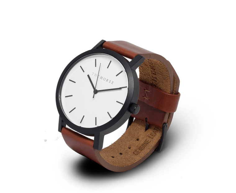 The Horse Original watch in Black, White and Brown