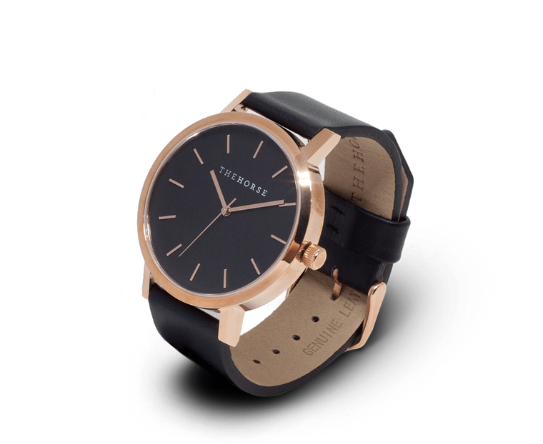 The Horse Original watch in Rose Gold and Black