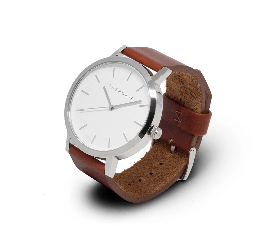 The Horse Watches The Horse Original watch in Steel and White with Brown
