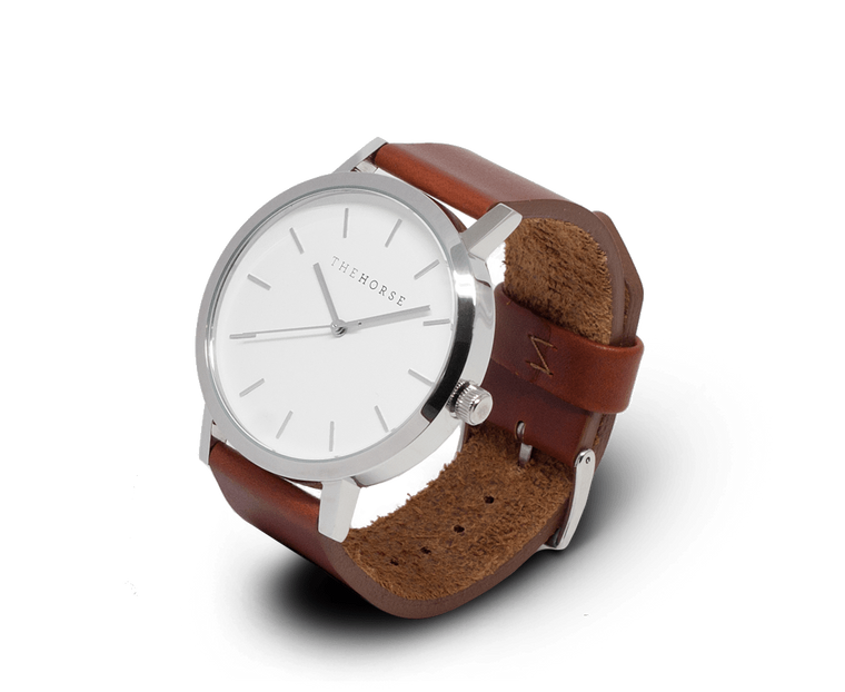 The Horse Original watch in Steel and White with Brown