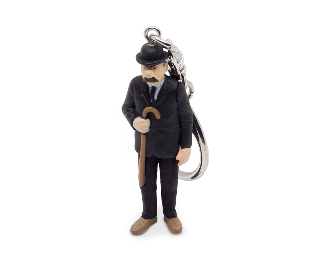 Dupont in his Black Suit and his Cane Keyring 6cm. Compendium Design Store, Fremantle. AfterPay, ZipPay accepted.