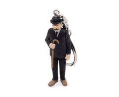 Dupont in his Black Suit and his Cane Keyring 6cm