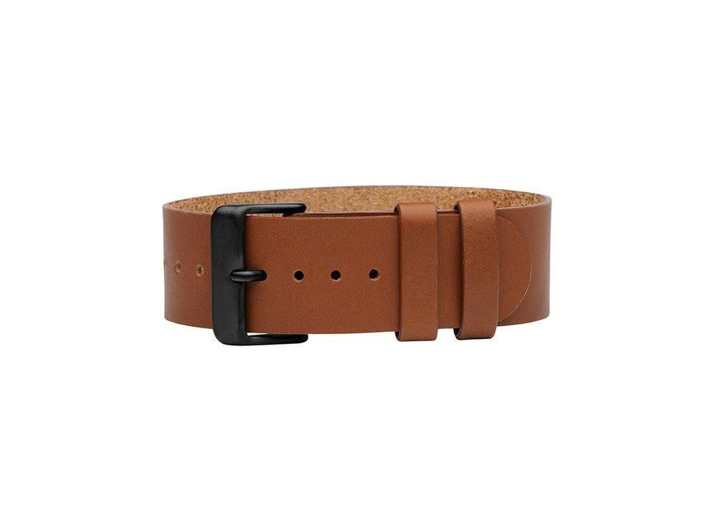 TID Stockholm Watches Tan Leather wristband w/Black TID No. 01 Watches · 36mm & 40mm