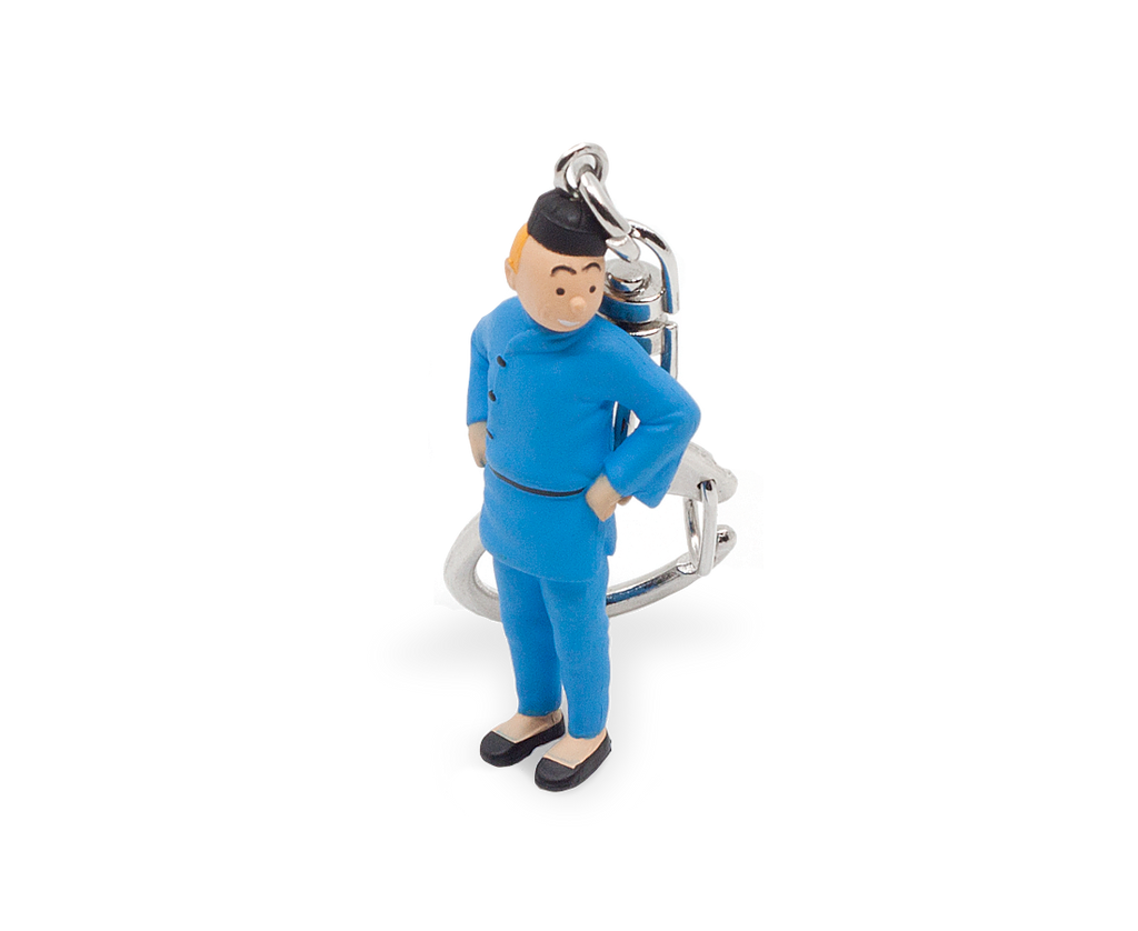 Tintin from Blue Lotus Keyring 6cm. Compendium Design Store, Fremantle. AfterPay, ZipPay accepted.