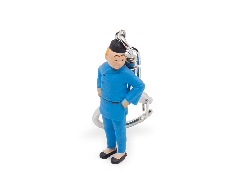 Tintin from Blue Lotus Keyring 6cm