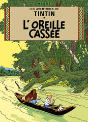 The Adventures of Tintin: L'Oreille cassée Poster in French. 50x70cm
