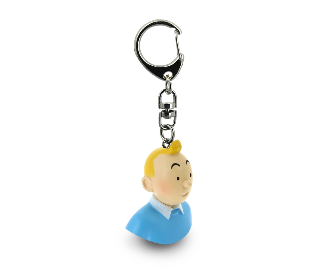 Tintin Bust Keyring. Moulinsart. Compendium Design Store. AfterPay, ZipPay accepted.