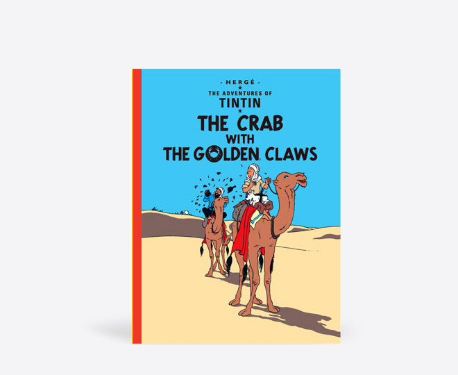Postcard: The Crab with the Golden Claw (English cover). Compendium Design Store, Fremantle. AfterPay, ZipPay accepted.