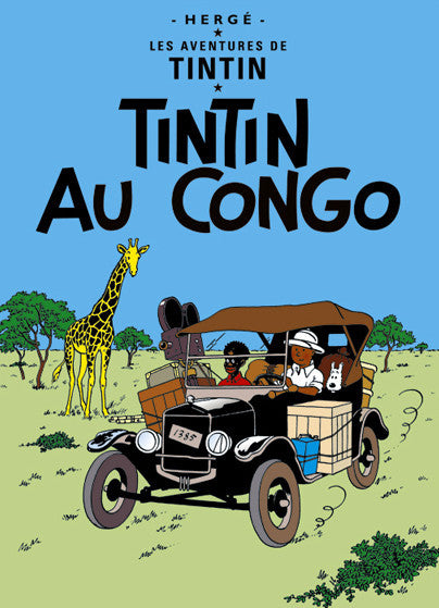 The Adventures of Tintin: Tintin Au Congo Poster in French. 50x70cm