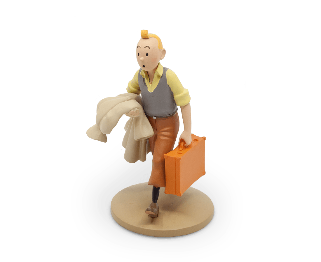 Tintin On The Road Resin Figurine 12cm. Compendium Design Store, Fremantle. AfterPay, ZipPay accepted.