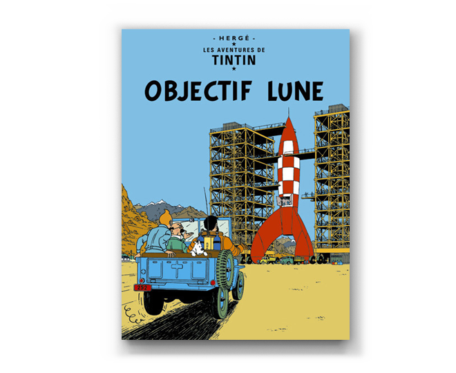 The Adventures of Tintin Album: Objectif Lune (in French). Compendium Design Store, Fremantle. AfterPay, ZipPay accepted.
