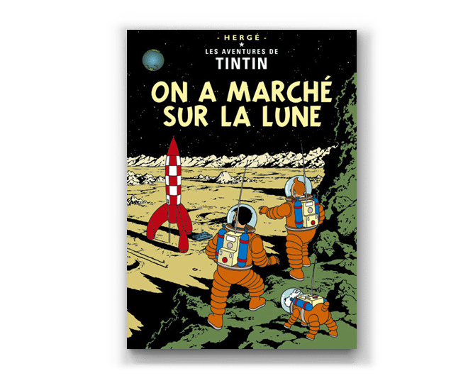 The Adventures of Tintin Album: On A Marche Sur La Lune (in French). Compendium Design Store, Fremantle. AfterPay, ZipPay accepted.
