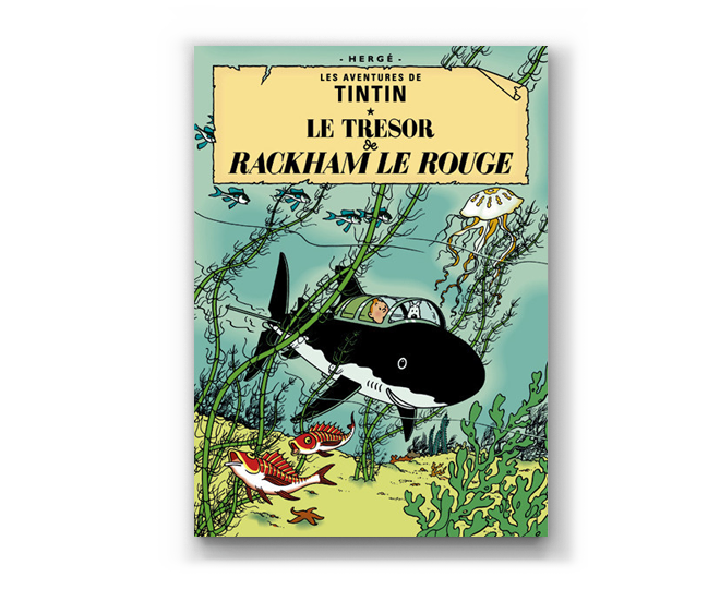 The Adventures of Tintin Album: Le Tresor Rackham Le Rouge (in French)