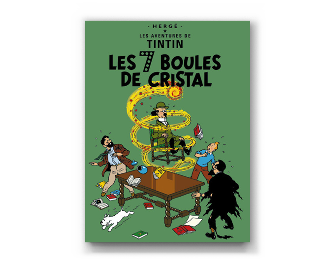 The Adventures of Tintin Album: Les 7 Boules De Cristal (in French). Compendium Design Store, Fremantle. AfterPay, ZipPay accepted.