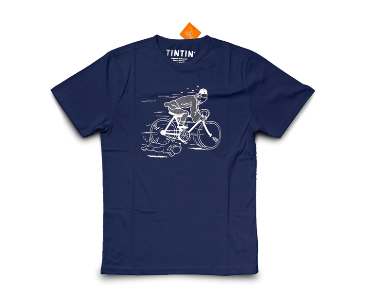 The Adventures of Tintin T-Shirt · Bike Blue Lotus Navy