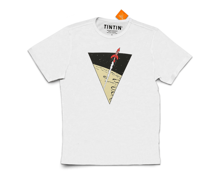 The Adventures of Tintin T-Shirt · Rocket White