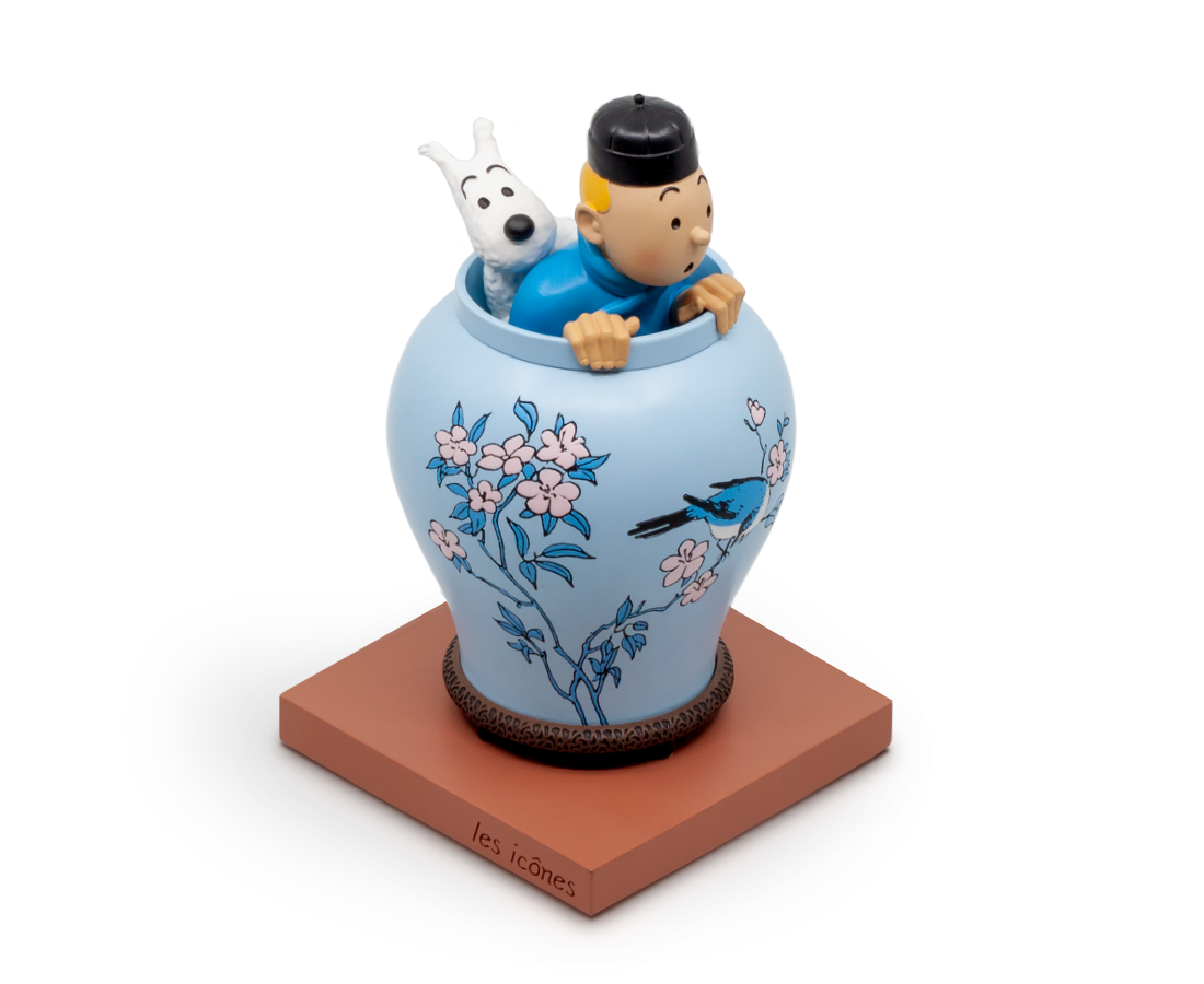 Tintin & Snowy in the Vase from The Blue Lotus · Icon Series