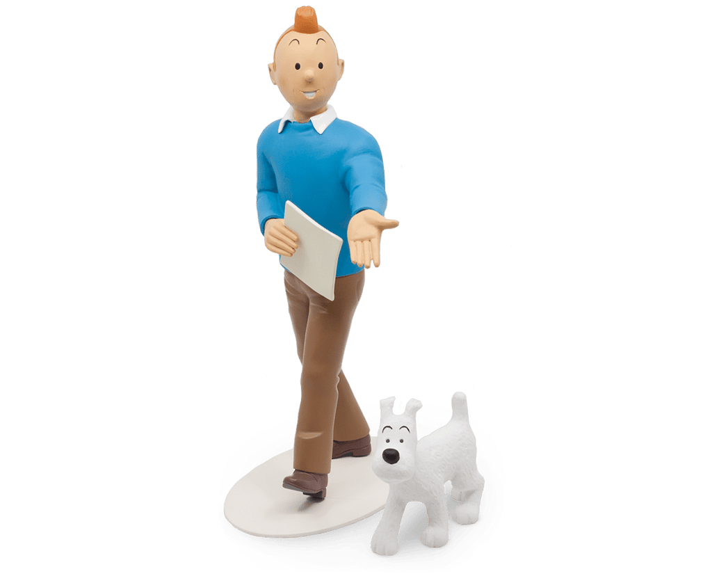 Tintin & Snowy Polychrome resin (25cm) Musée Imaginaire de Tintin. Compendium Design Store, Fremantle. AfterPay, ZipPay accepted.