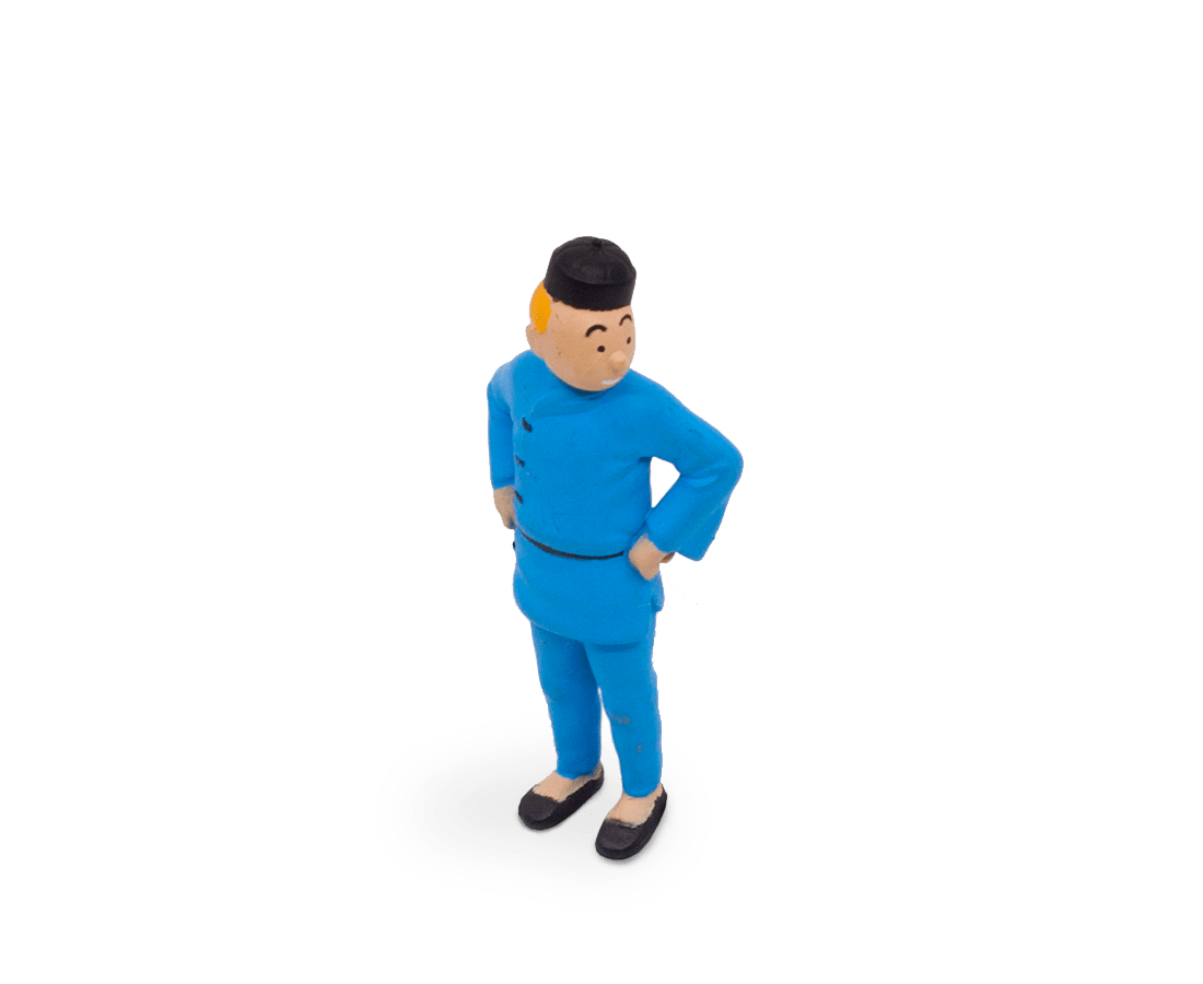 Tintin from The Blue Lotus (Small) PVC Figurine 5cm. Compendium Design Store, Fremantle. AfterPay, ZipPay accepted.