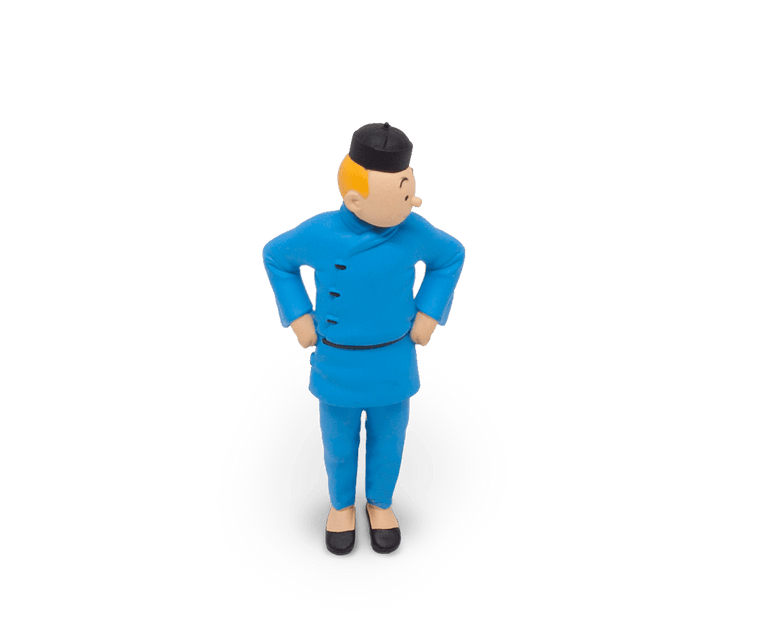 Tintin from Blue Lotus figurine (9cm)