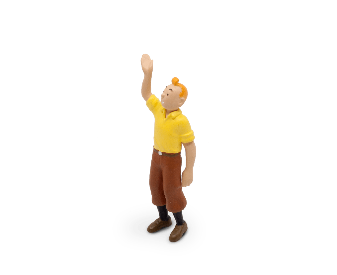 Tintin Welcomes You PVC Figurine 6cm. Compendium Design Store, Fremantle. AfterPay, ZipPay accepted.