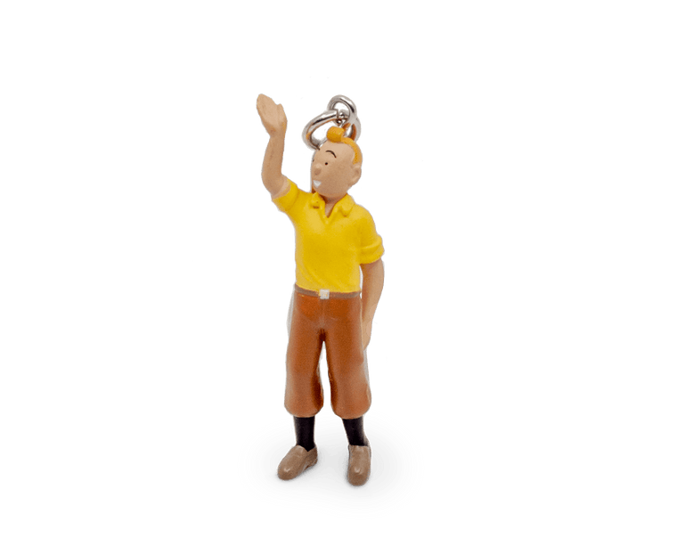 Tintin Welcomes You PVC Keyring 6cm