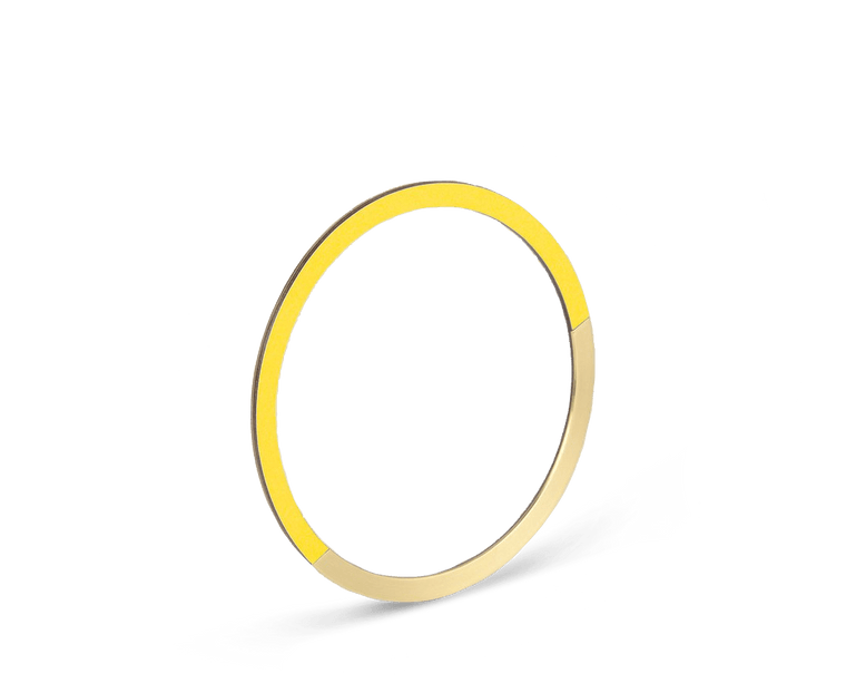 Tom Pigeon Form Series Circle Bangle in Brass & Yellow