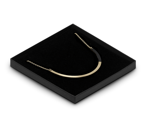 FORM circle necklace in Brass & Black