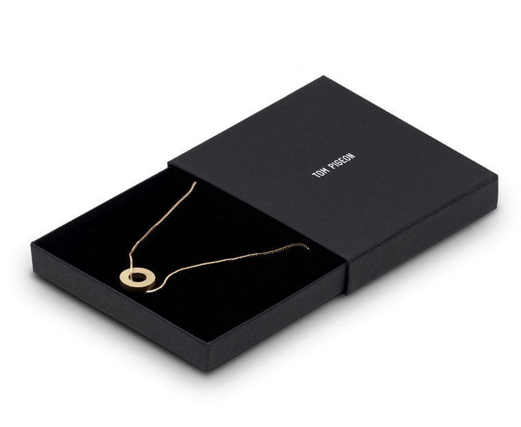 Tom Pigeon Béton Series Hoop Necklace · Gold