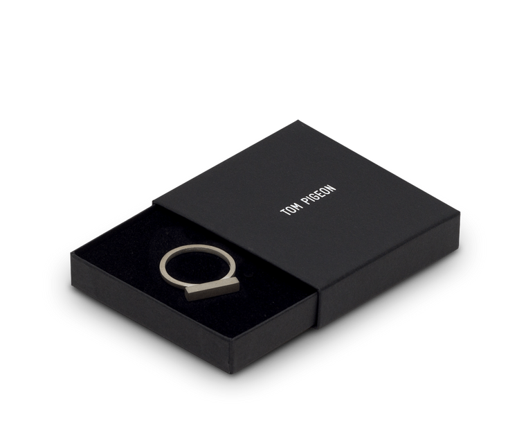 Tom Pigeon Béton Series Ring · Solid Silver
