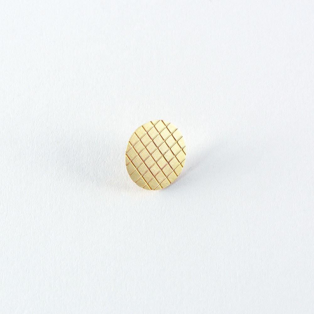 Tom Pigeon Jewellery Grid Tie Tack · Brass