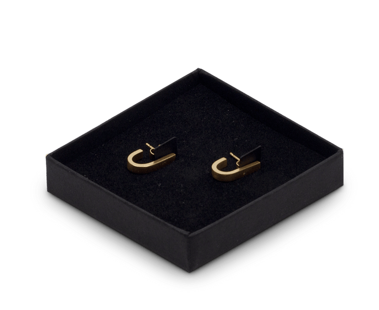 Tom Pigeon Béton Series Loop Earrings · Gold