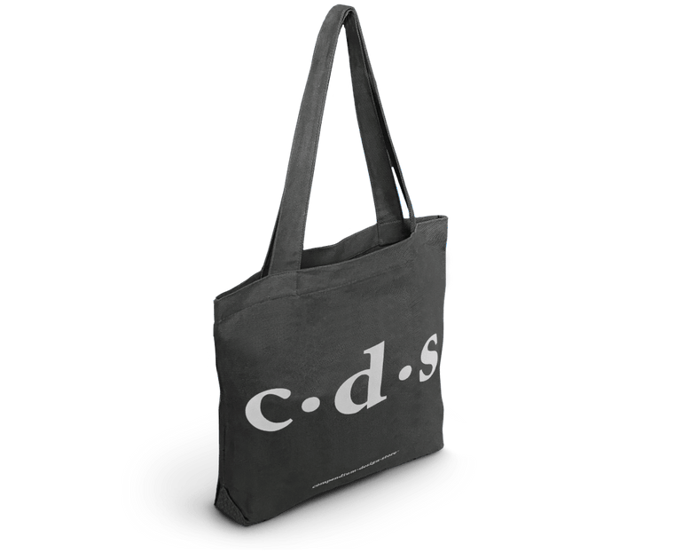 Compendium Design Store 'C·D·S' Tote Bag in Graphite