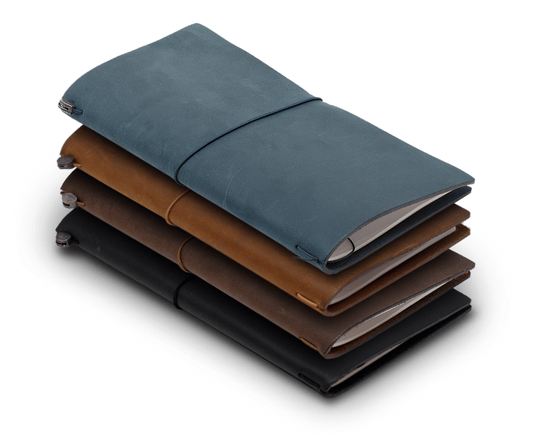 Traveler's Company Leather Notebook (Regular Size) Starter Kit