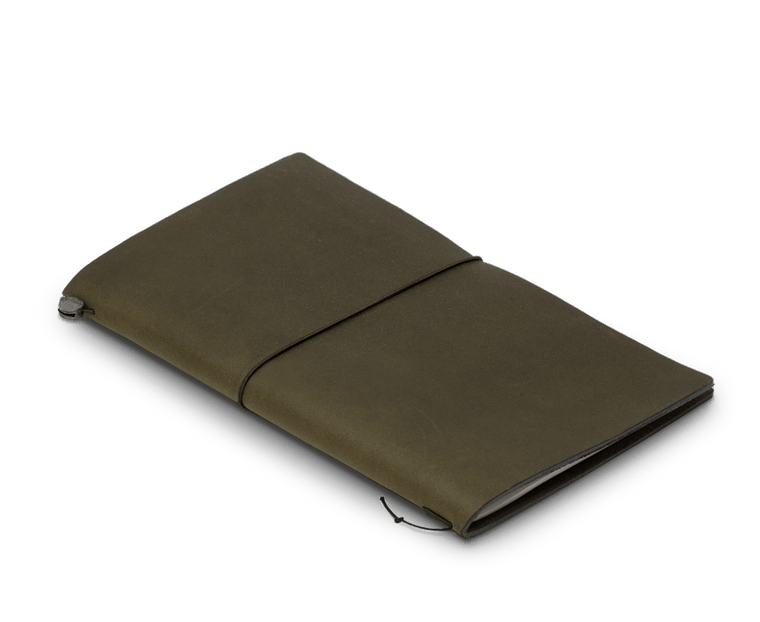 Traveler's Company Leather Notebook (Regular Size) Starter Kit Special Edition Olive Colour