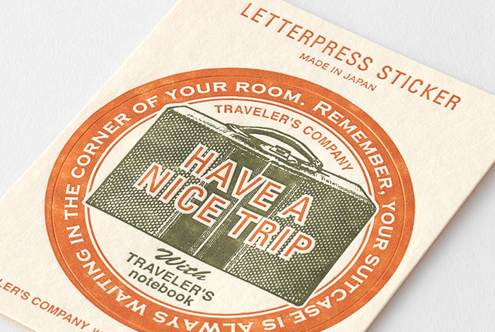Travelers Company Japan Ltd Ed. 'Travel Tools' · Letterpress Stickers