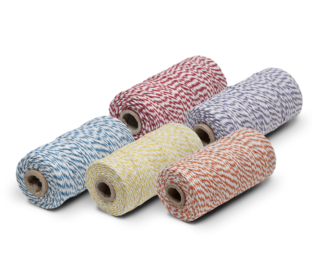Bakers Twine 100% Cotton 5 Pack: Ocean / Red / Orange / Lavender / Yellow