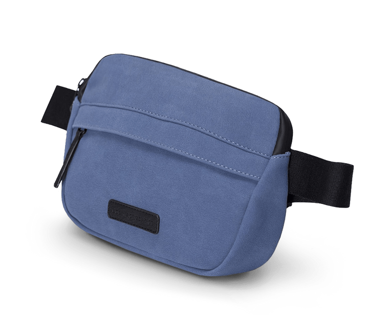 Suede Series Jacob Sling Bag in Blue