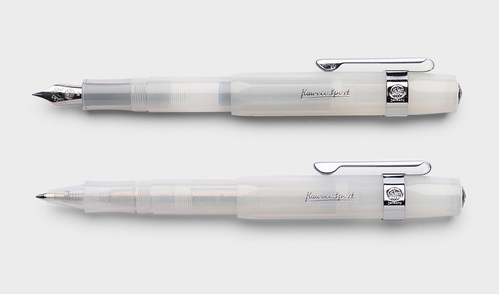 Kaweco Classic Sport Rollerball in Frosted Coconut. Compendium Design Store, Fremantle. AfterPay, ZipPay accepted.