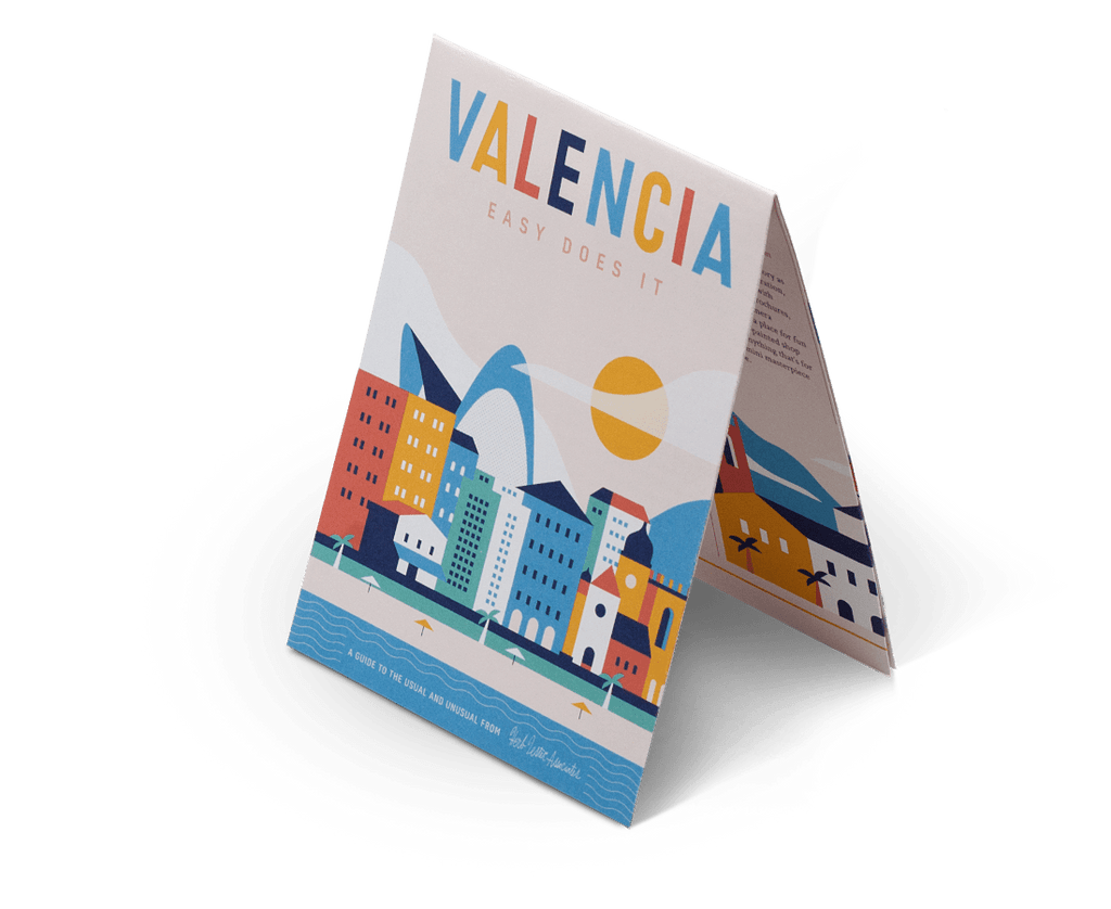 Valencia: Easy Does It. City Guide & Map by Herb Lester. Compendium Design Store, Fremantle. AfterPay, ZipPay accepted.
