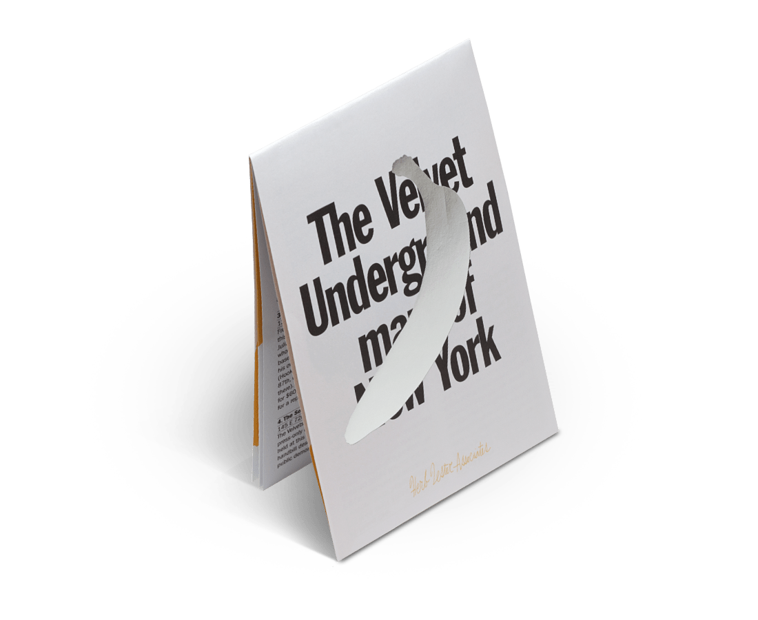 The Velvet Underground Guide to New York. City Guide & Map by Herb Lester