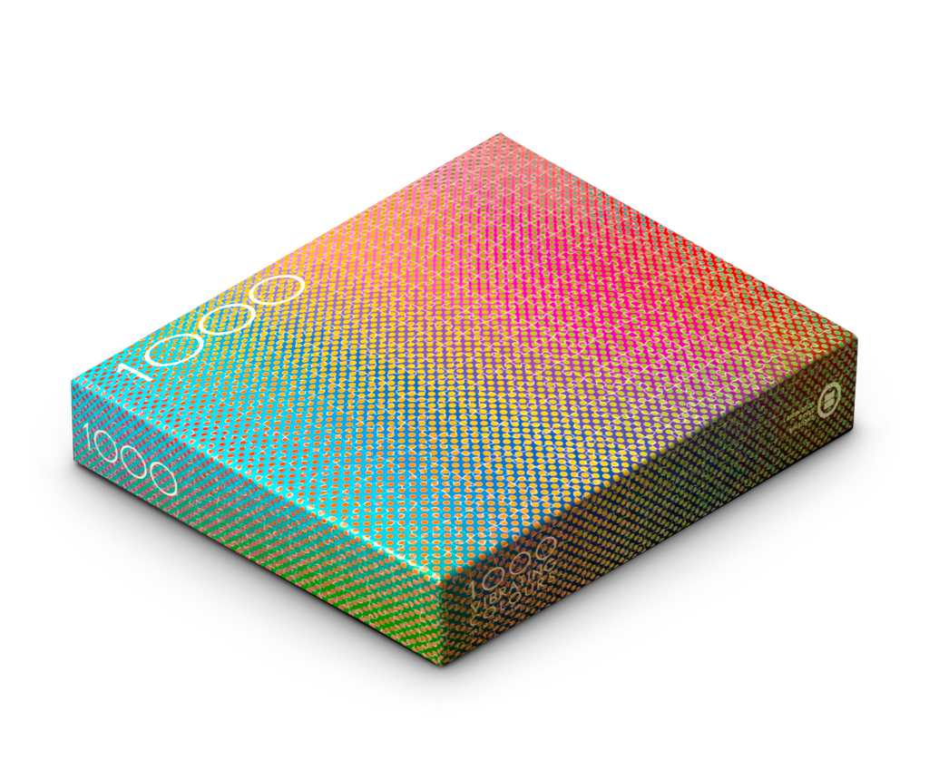 1000 Vibrating Colours Puzzle by Clemens Habicht. Compendium Design Store, Fremantle. AfterPay, ZipPay accepted.