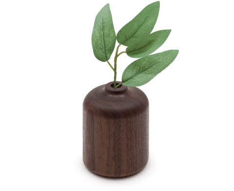 Walnut Bud Vase (Straight)
