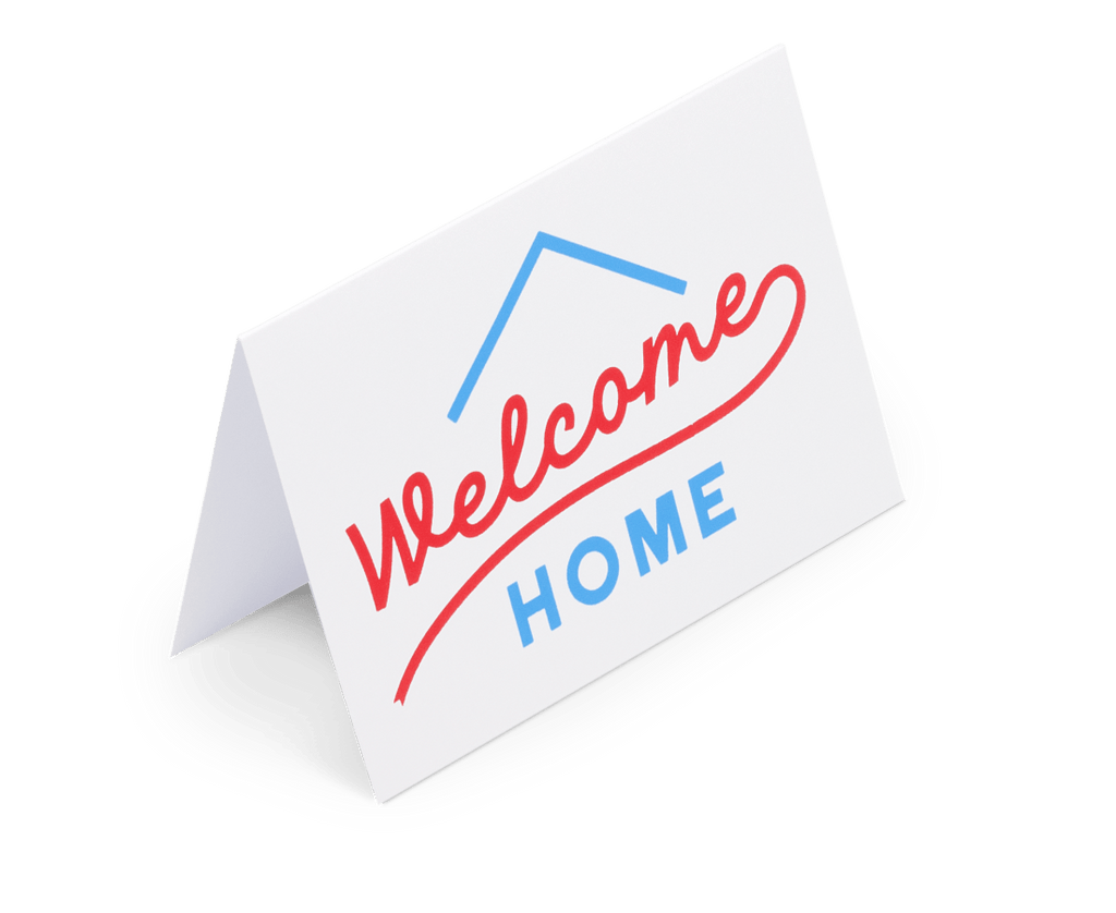 Welcome Home Greeting Card. Compendium Design Store, Fremantle. AfterPay, ZipPay accepted.